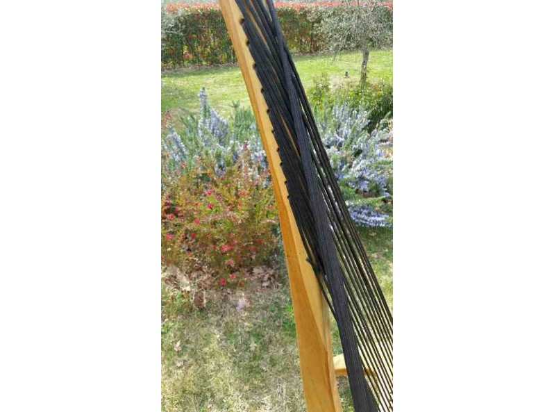 poltrona da giardino in legno e corda