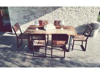 tavolo da giardino in legno di barca