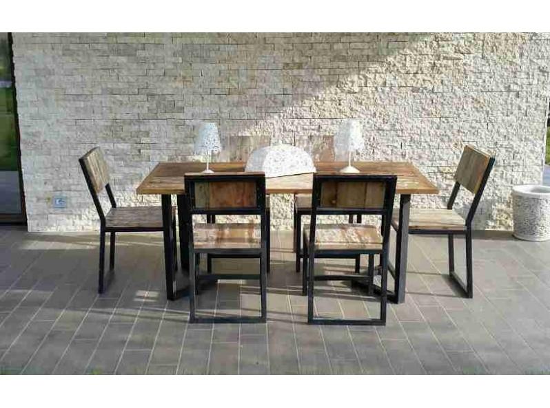 tavolo giardino vintage in legno di barca