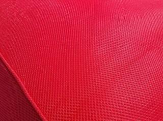 Lettino galleggiante per piscina in tessuto rosso