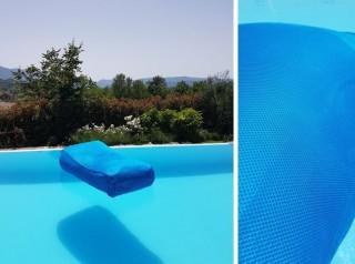 Lettino da piscina in tessuto