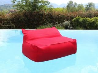 Poltrona morbida galleggiante in tessuto rosso