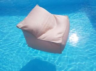 Poltrona galleggiante per piscina colore tortora