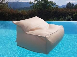 Poltrona galleggiante in morbido tessuto per esterno