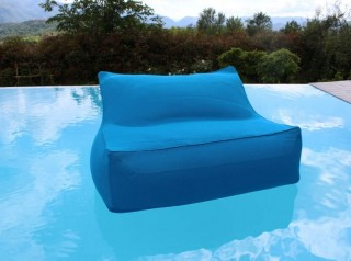 Floating beanbag chair turquoise