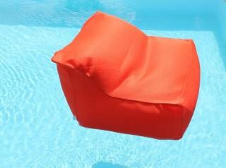 Poltrona galleggiante in tessuto arancione