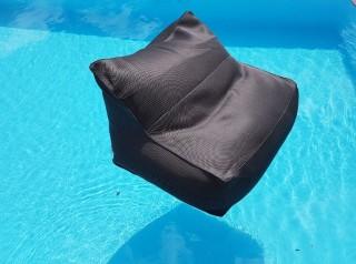 Poltrona galleggiante in tessuto grigio