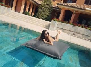 cuscino galleggiante per piscina in tessuto