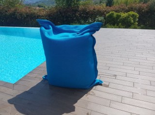 cuscino galleggiante per esterno turchese