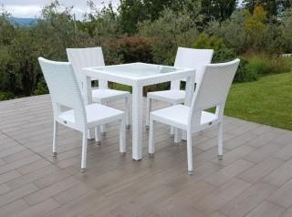 Sedia per esterno bianca