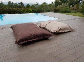 Cuscino gigante pouf da esterno in tessuto