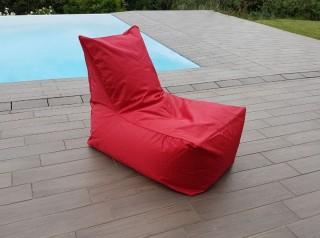 Poltrona a sacco da esterno rossa