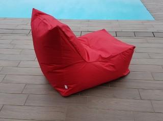 Poltrona da esterno in tessuto rosso