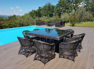 Tavolo da giardino otto posti Noor