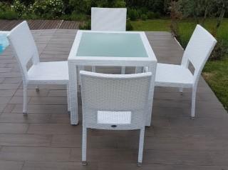 Tavolo da giardino Java White