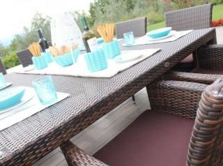 Tavolo outdoor con poltrone