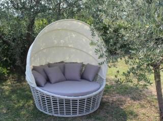 Divano con parasole richiudibile Nest