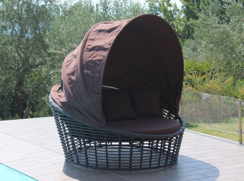 Divano tondo con parasole Nest