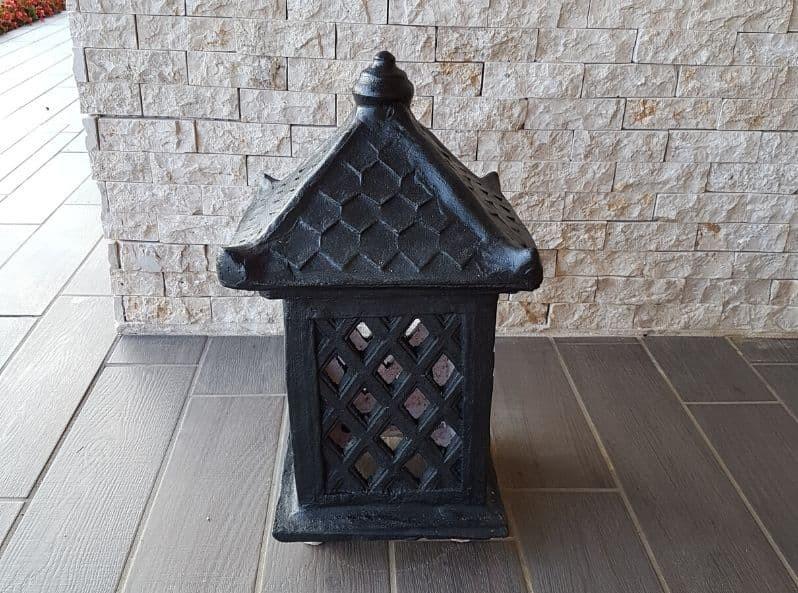 Lanterna da esterno in terracotta