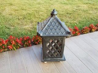 Lanterna per esterno in terracotta nera