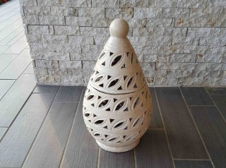 Lanterna in terracotta Eggy White