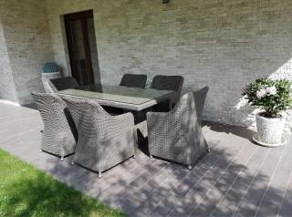Tavolo per esterno in fibra sintetica