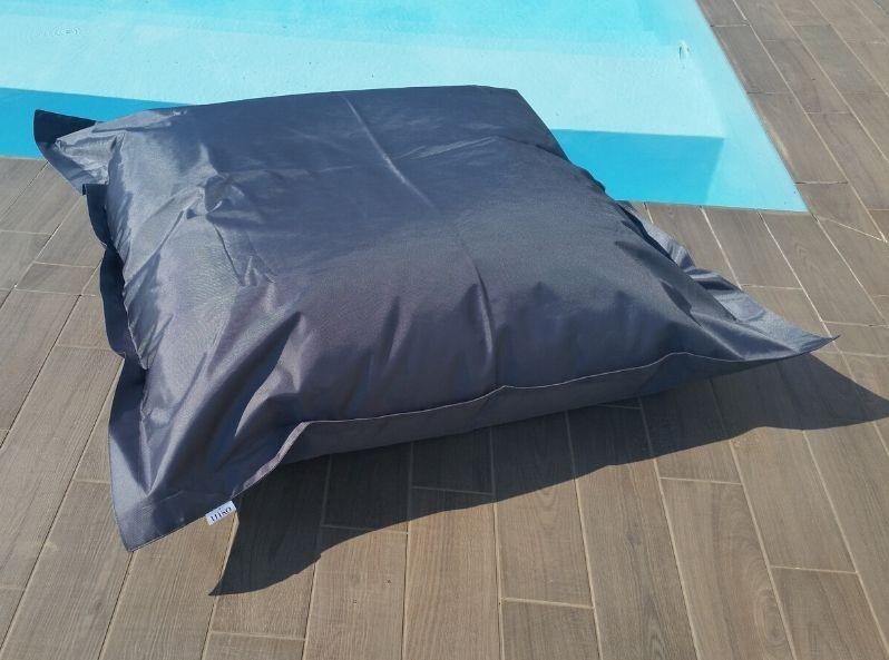 Cuscino gigante per esterno grigio