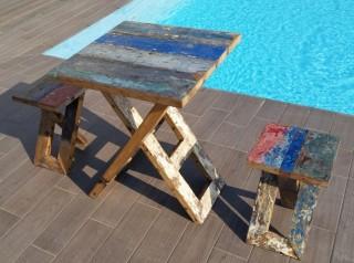 Set due posti in legno di barca