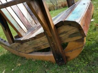 Poltrona a dondolo in legno di barca