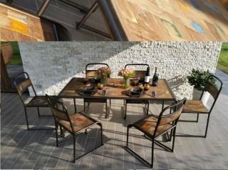 Tavolo in legno di barca indonesiano