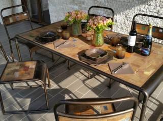 Tavolo per esterno industrial
