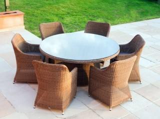Tavolo tondo per esterno sei posti