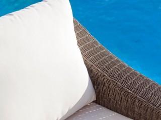 Cuscini sfoderabili per esterno crema