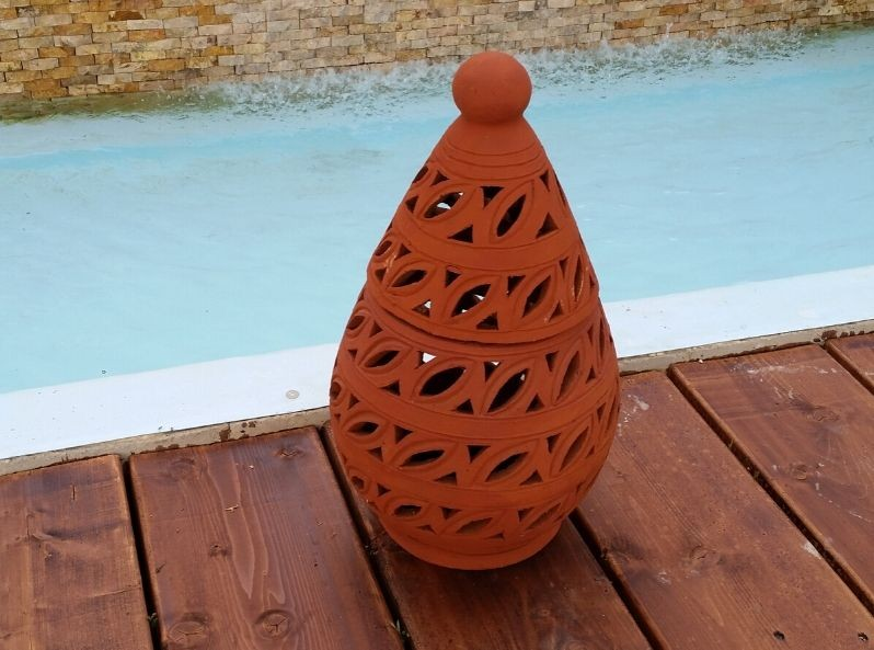 Lanterna in terracotta Eggy