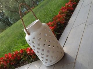 Lanterna artigianale in terracotta