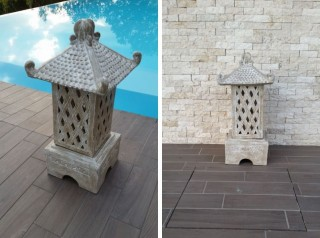 Lanterna da giardino in terracotta