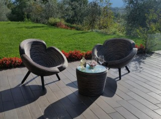 Poltrone in rattan naturale di design