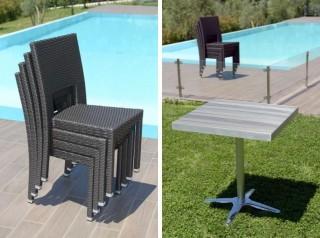 Set da esterno tavolo e sedie