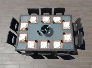 Tavolo per esterno in rattan sintetico
