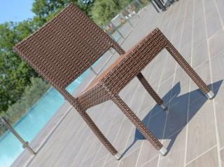 Sedia per esterno in rattan sintetico