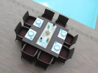 Tavolo quadrato per esterno Agalega