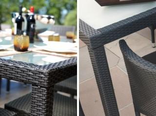 Set tavolo e poltrone da esterno