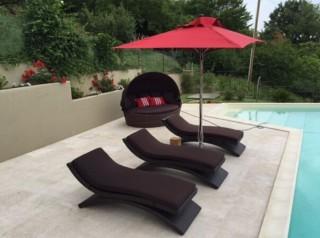 Lettino piscina di design