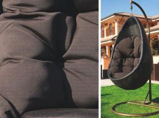 Seduta sospesa di design in rattan