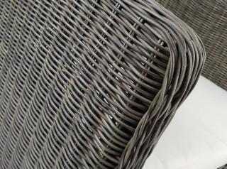 Poltrona da esterno in fibra naturale