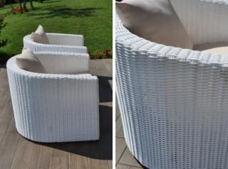 Deva White outdoor sofa