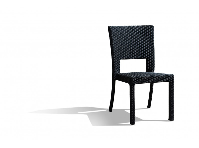 Sedia impilabile in rattan sintetico per esterno