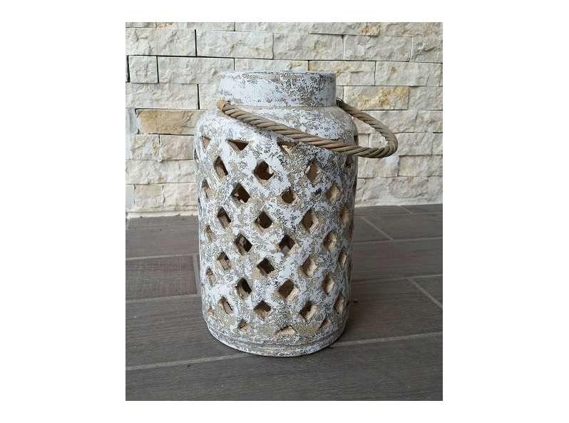 Lanterna artigianale in terracotta Gyll