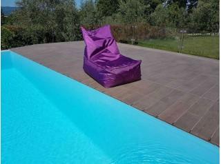 Poltrona a sacco da giardino Shine Viola