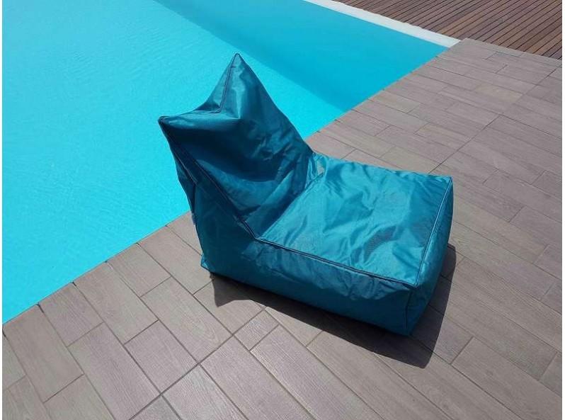 Poltrona a sacco pouf per esterno color turchese